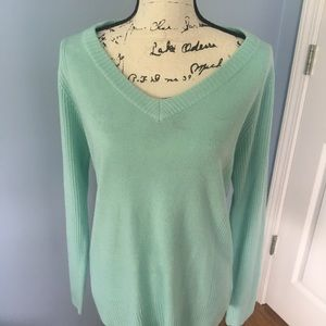 CAROL ROSE mint green sweater large🌞
